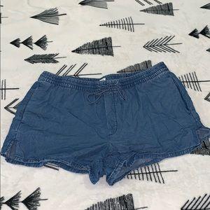 GAP Tencel Drawstring Shorts Large Size